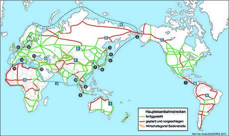 Die Weltlandbrücke - Die wichtigsten Verbindungen und Korridore