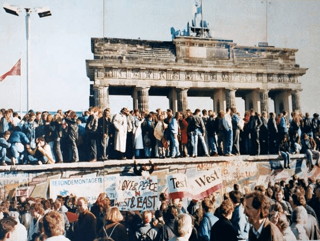 The fall of the Berlin Wall on November 9, 1989