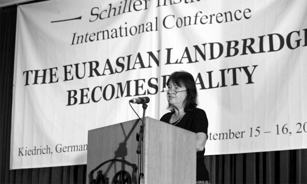 Helga Zepp-LaRouche tells an international conference in Germany: 'The new world economic order is our life's work, and it is now the time to implement it.'