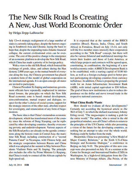 helga-larouche_new-silk-road-new-econ-order-EIR2014_0