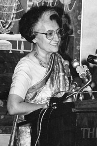 Prime Minister Indira Gandhi keynotes the 1983 Non-Aligned Summit in New Delhi, India: 'The eyes of the world are upon us