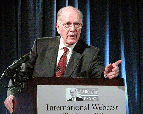 Lyndon LaRouche forecasts the financial crisis of 2007 during a public webcast in Washington DC on July 25, 2007