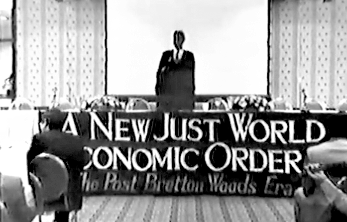 Frederick Wills, former Guyanese foreign minister, addresses Schiller Institute conference 'A New Just World Economic Order: Development Is The Name For Peace' held in Bretton Woods, New Hampshire
