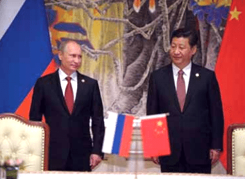 Russian President Vladimir Putin and Chinese President Xi Jingping hold an historic summit in Shanghai, China (Russian Presidential Press & Information Office)