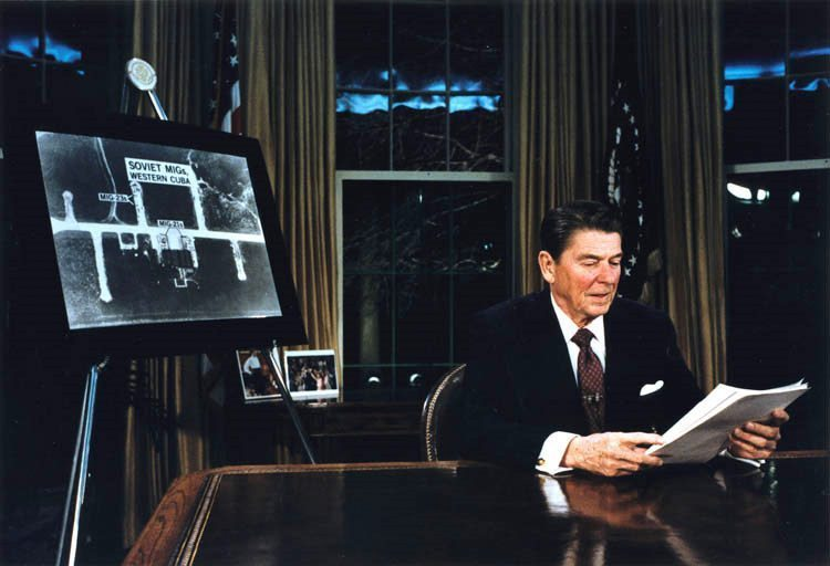 Ronald Reagan announces the Strategic Defense Initiative (SDI) to render the threat of nuclear war 'impotent and obsolete.'