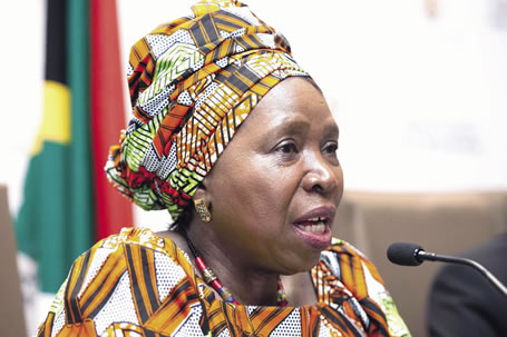 African Union Commission Chair Dr. Nkosazana Dlamini-Zuma, Oct. 24, 2016. (GCIS)